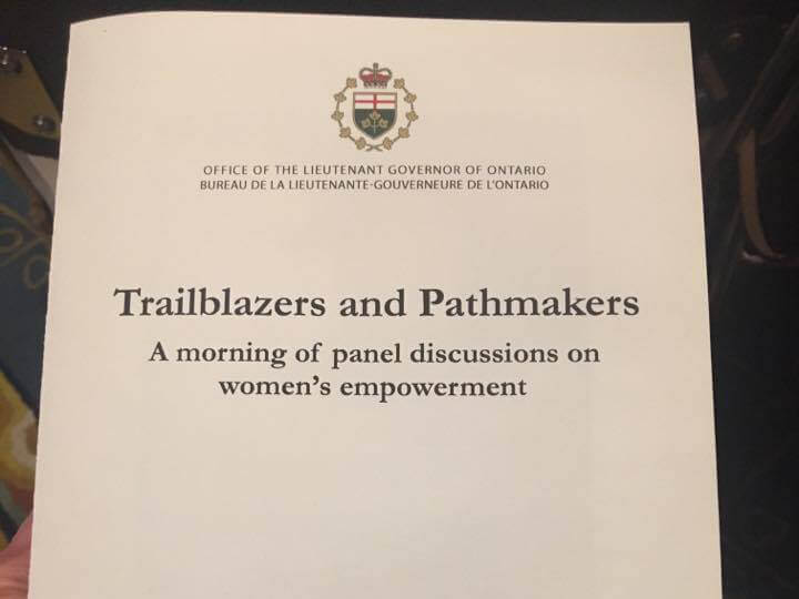 Lieutenant Governor Women Trail Blazers & Path Makers